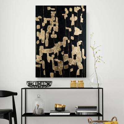 "36 in. x 60 in. ""Aurum"" by Mat Printed and Painted Canvas Wall Art"