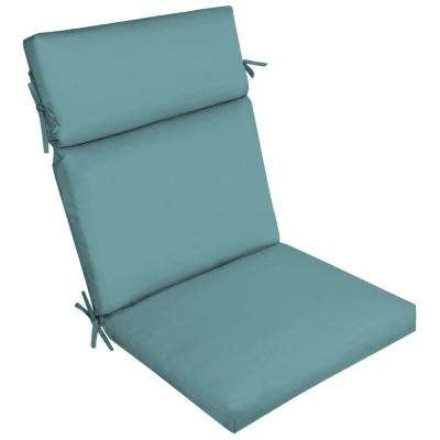 Surf Canvas Texture Outdoor High Back Dining Chair Cushion