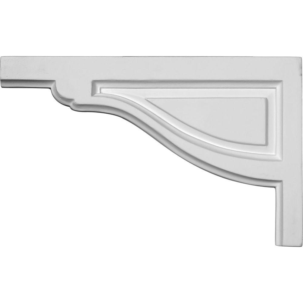 Ekena Millwork 1/2 in. x 11-3/4 in. x 7-3/8 in. Polyurethane Left Large Traditional Stair Bracket Moulding