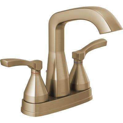 Stryke 4 in. Centerset 2-Handle Bathroom Faucet in Champagne Bronze