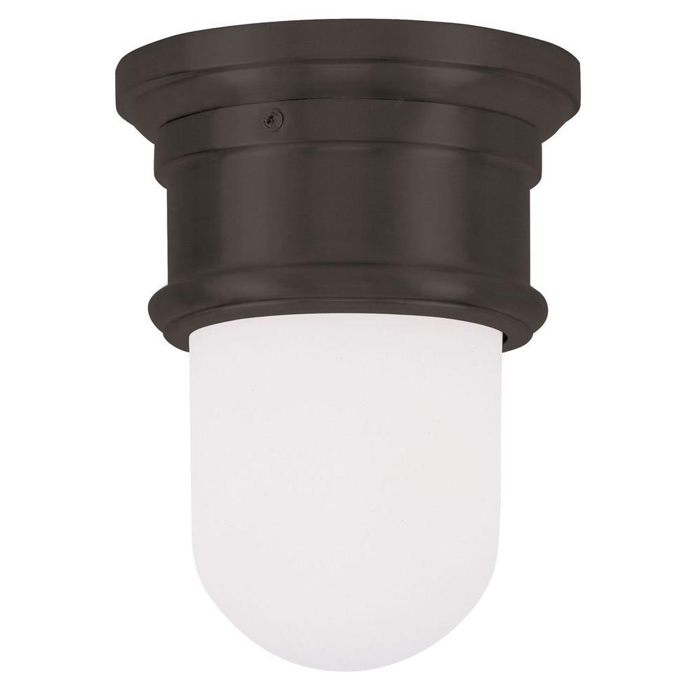 Livex Lighting Providence 1-Light Ceiling Bronze