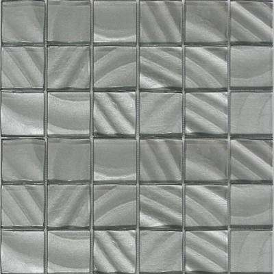 Valverde 2 x 2 3D Pearl 12 in. x 12 in. x 6mm Glass Mosaic Tile