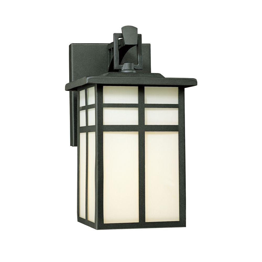 Thomas Lighting Mission 1-Light Black Outdoor Wall-Mount Lantern ...