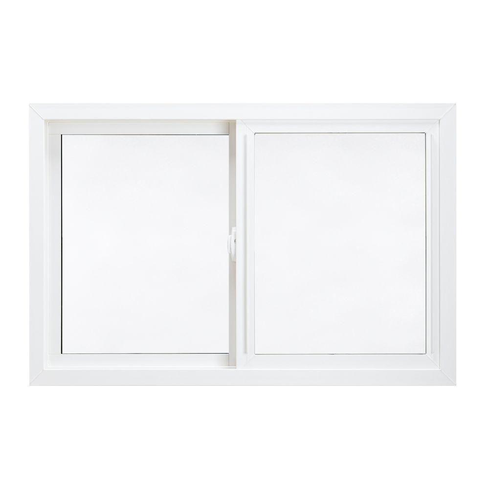 JELD-WEN 71.75 in. x 35.75 in. V-4500 Series Left-Hand Sliding Vinyl Window - White