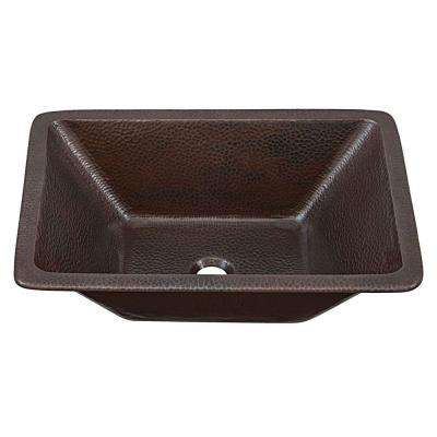 Hawking Dual Mount Handmade Pure Solid Copper Bathroom Sink in Aged Copper