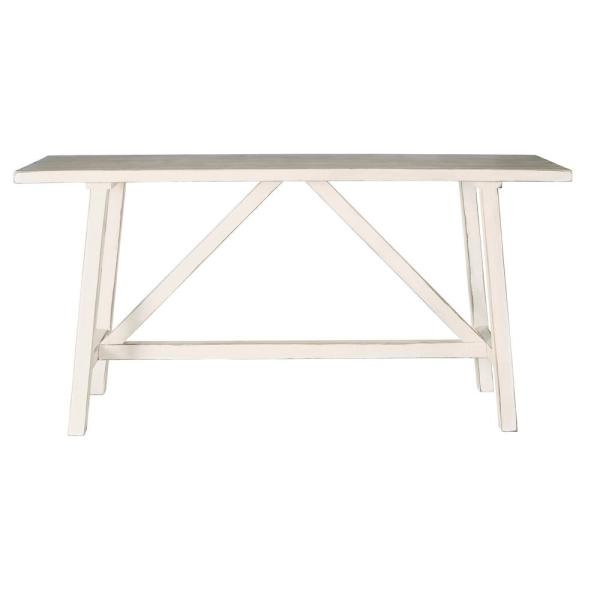 Farmhouse 37 in. Antique White Console Table