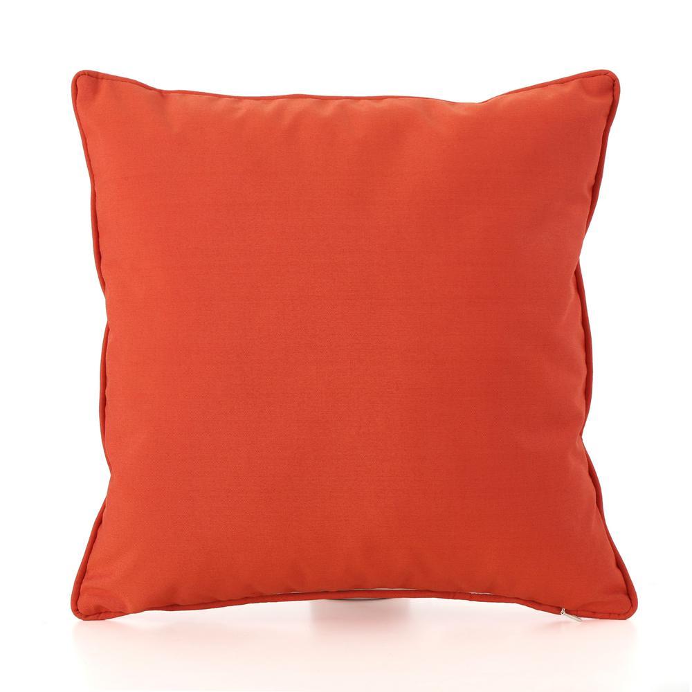 Coronado Orange Outdoor Throw Pillow