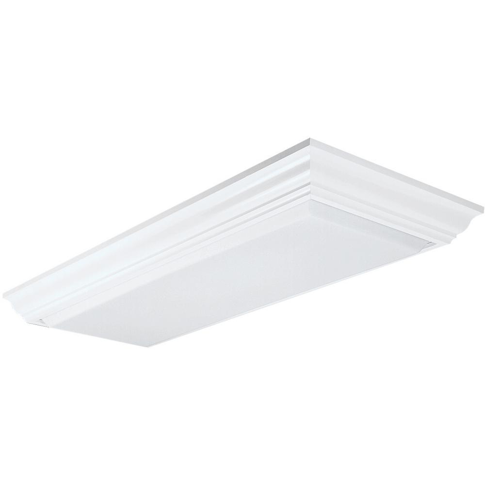 Lithonia Lighting Cambridge 1-1/2 ft. x 4 ft. 4-Light Wood Fluorescent Ceiling Fixture
