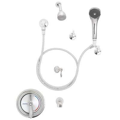 Sentinel Mark II Single-Handle Round 1-Spray Shower Faucet in Polished Chrome (Valve Included)