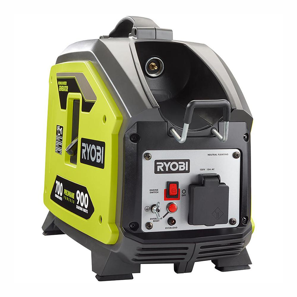 RYOBI 900 Starting Watt Propane Powered Inverter Generator