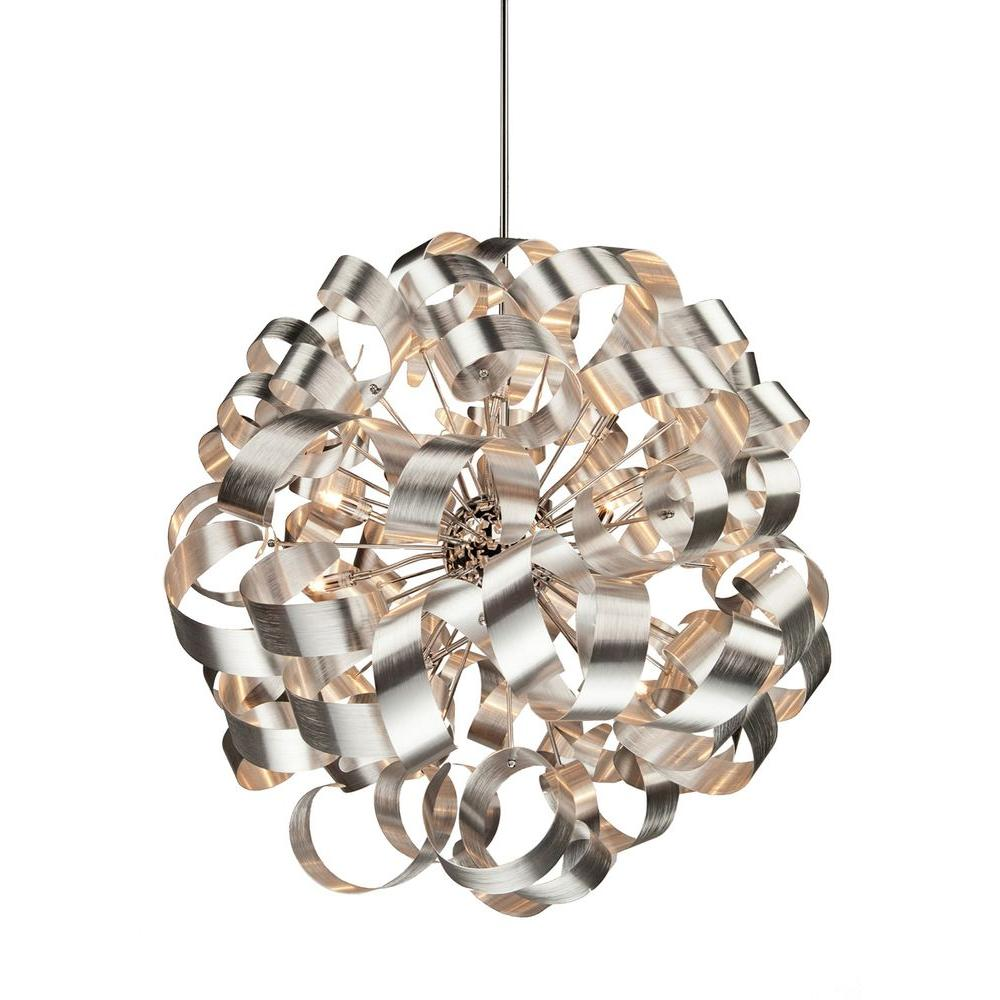 ARTCRAFT Bel Air 12-Light Chrome Pendant