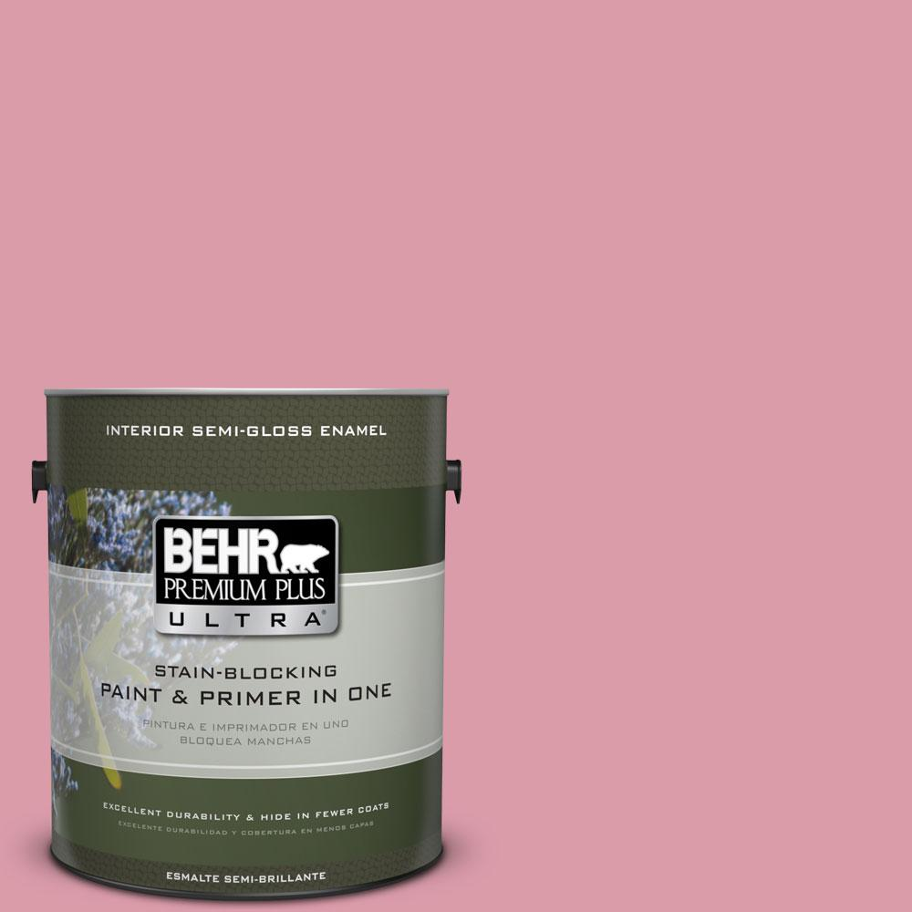 BEHR Premium Plus Ultra 1 gal. #110C-3 Glamour Semi-Gloss Enamel Interior Paint and Primer in One