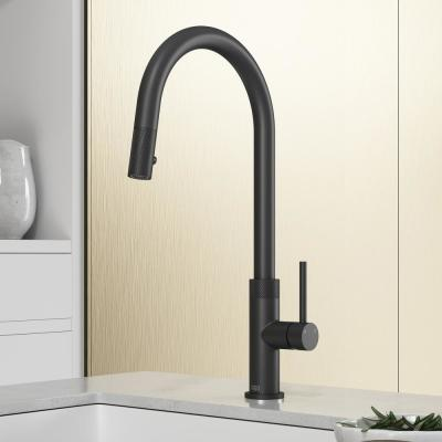 Bristol Single-Handle Pull-Down Sprayer Kitchen Faucet in Matte Black