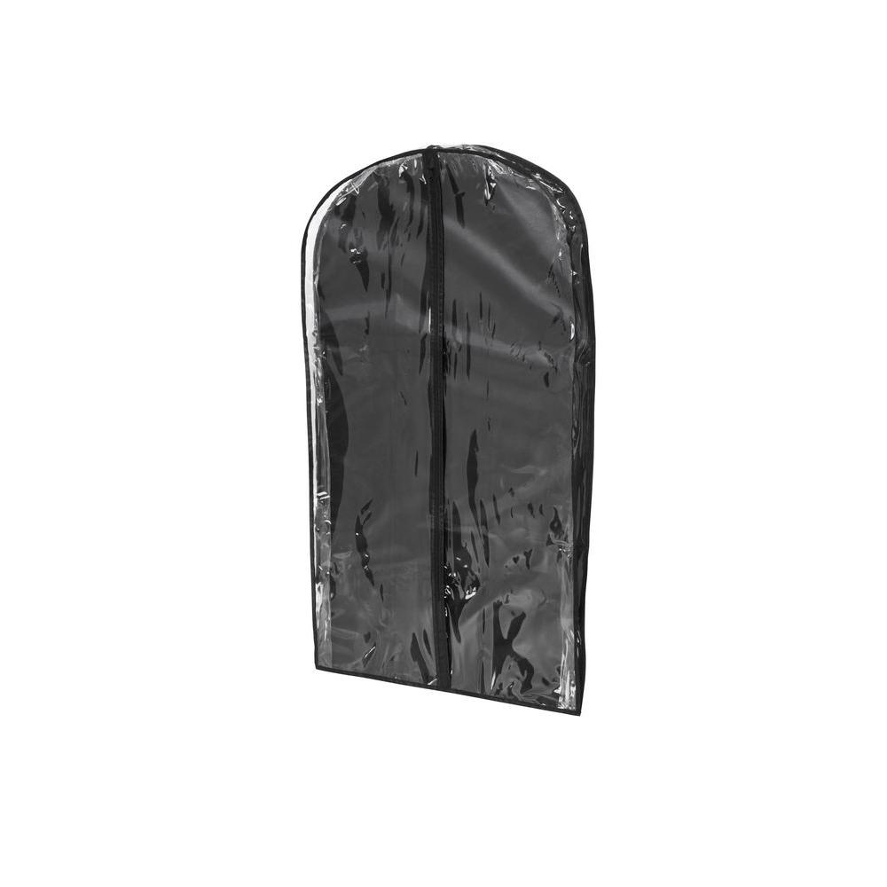 Honey-Can-Do Black Polyester and Clear Vinyl Suit Bag (2-Pack)