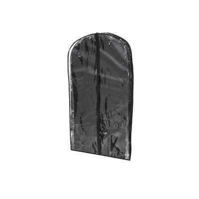 Black Polyester and Clear Vinyl Suit Bag (2-Pack)