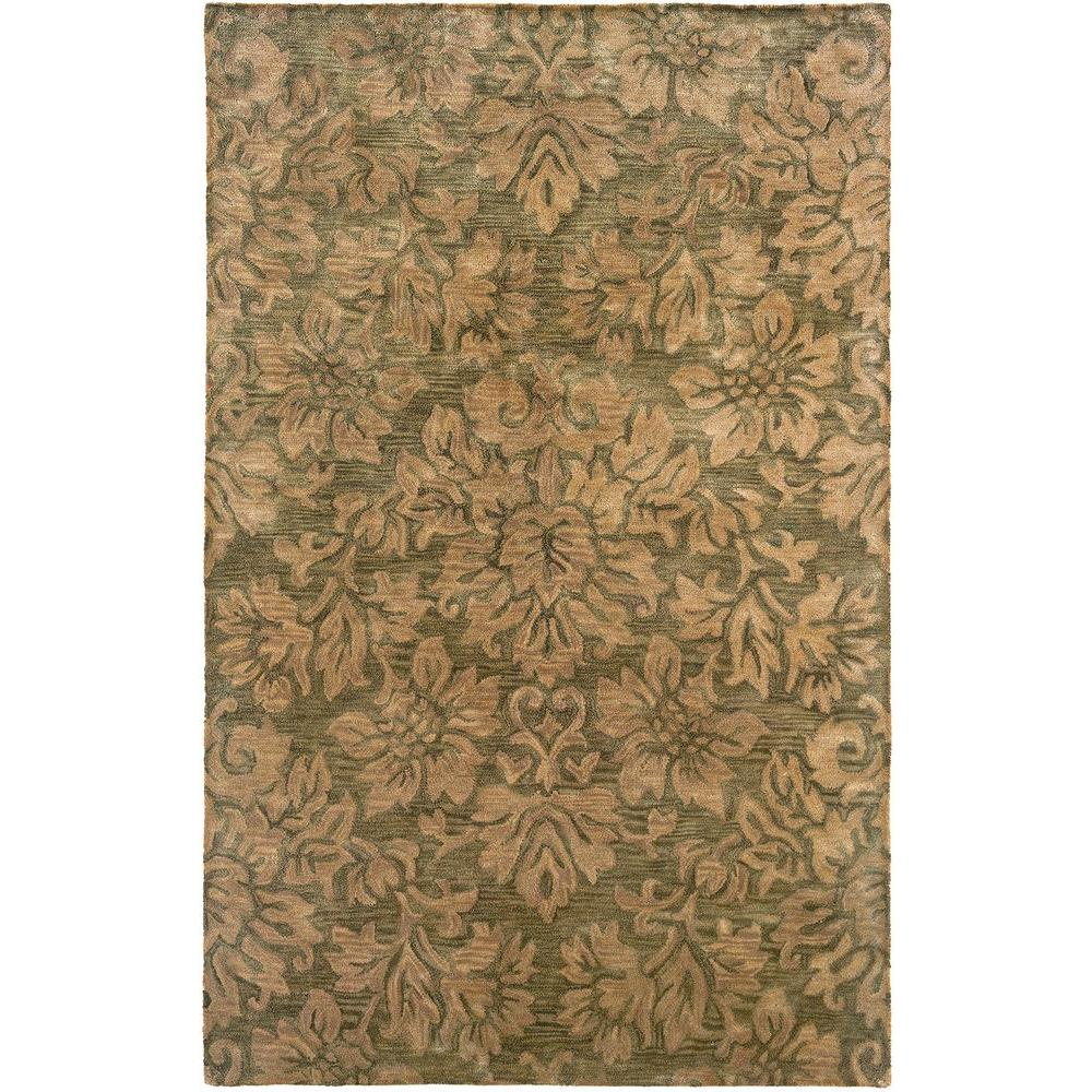 LR Resources Transitional Green Rug Runner 2 ft. 5 in. x 7 ft. 9 in. Plush Indoor Area Rug