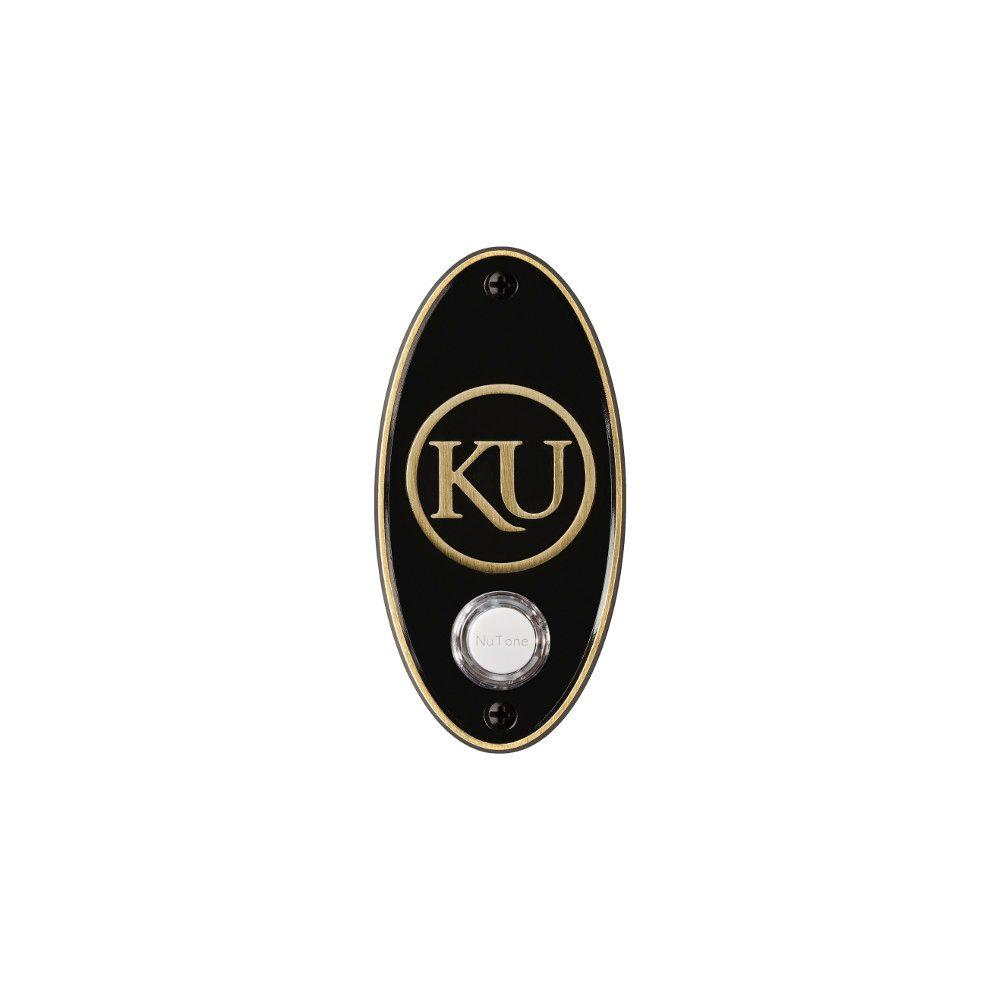 NuTone College Pride University of Kansas Wireless Door Chime Push Button - Antique Brass