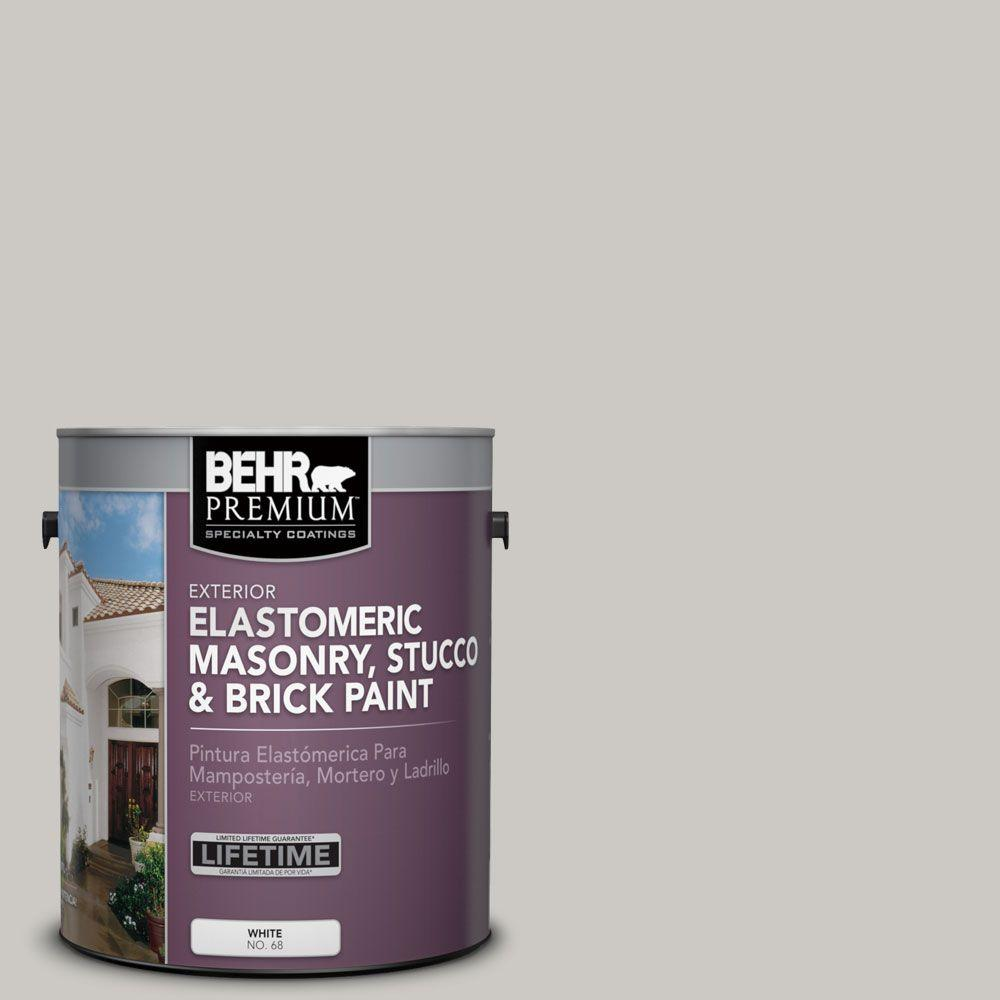 1 gal. #MS-79 Silver Gray Pebble Elastomeric Masonry, Stucco and Brick