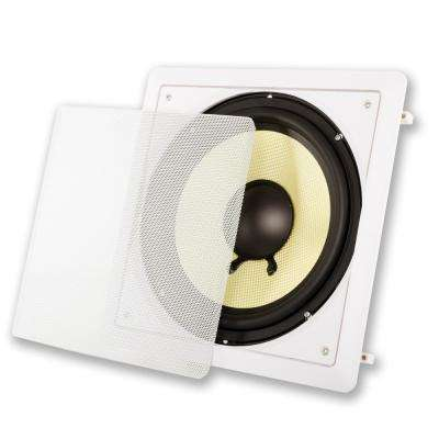 In-Wall 10 in. Home Theater Passive Subwoofer Speaker