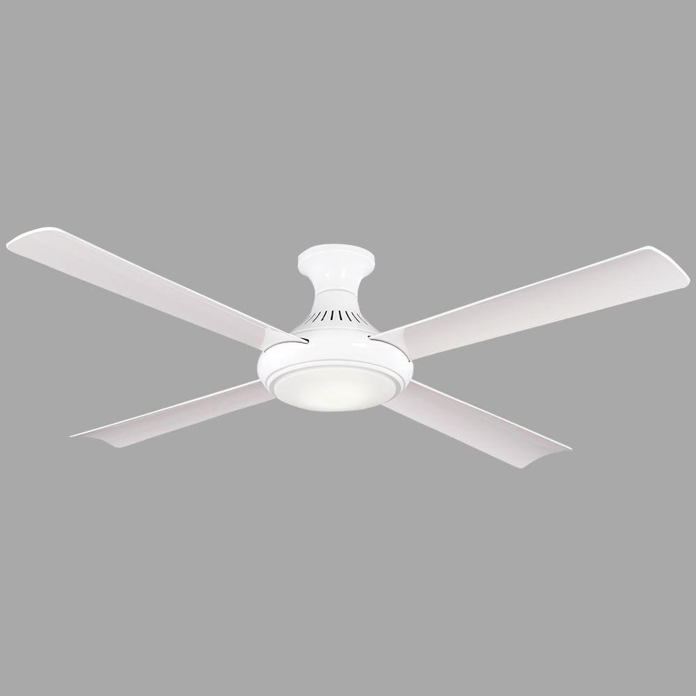 Waywood 56 in. LED Indoor White Ceiling Fan