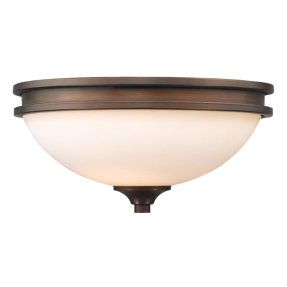 Holborn Collection 2-Light Sovereign Bronze Flushmount