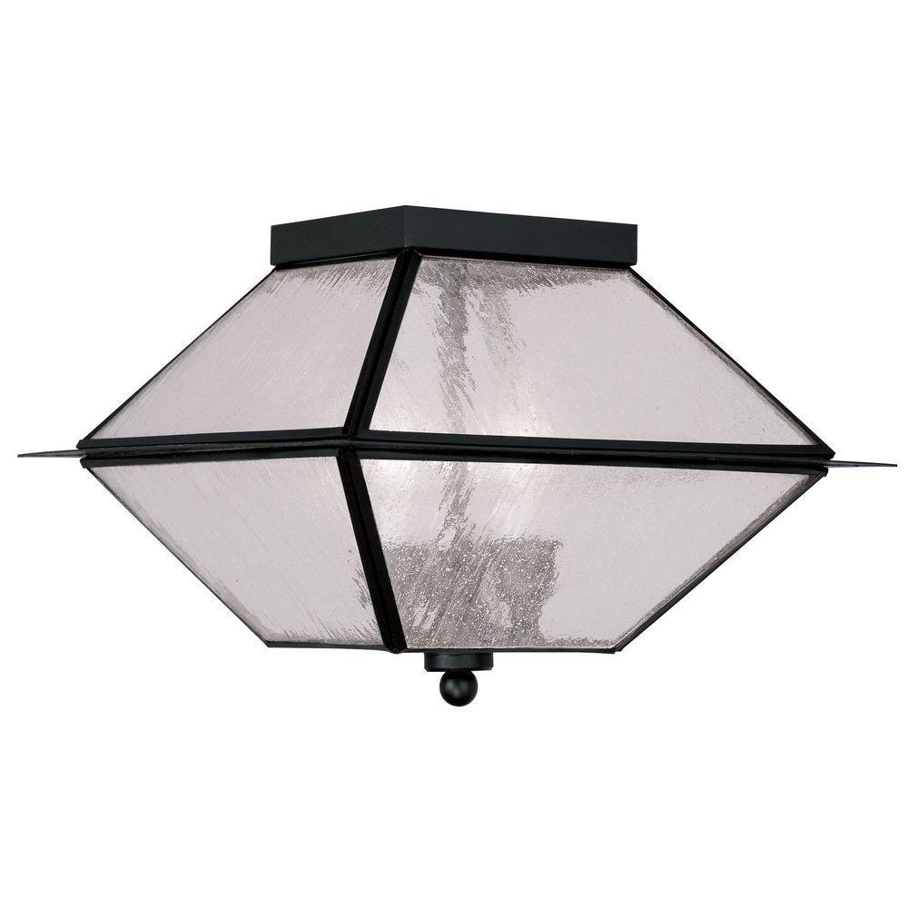 Livex Lighting Providence 3-Light Hanging Outdoor Black Incandescent Lantern