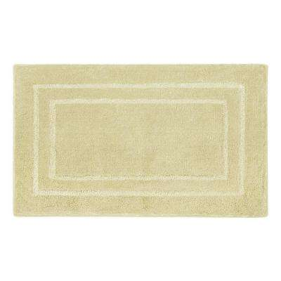 Pearl Double Border Banana 20 in. x 32 in. Bath Mat