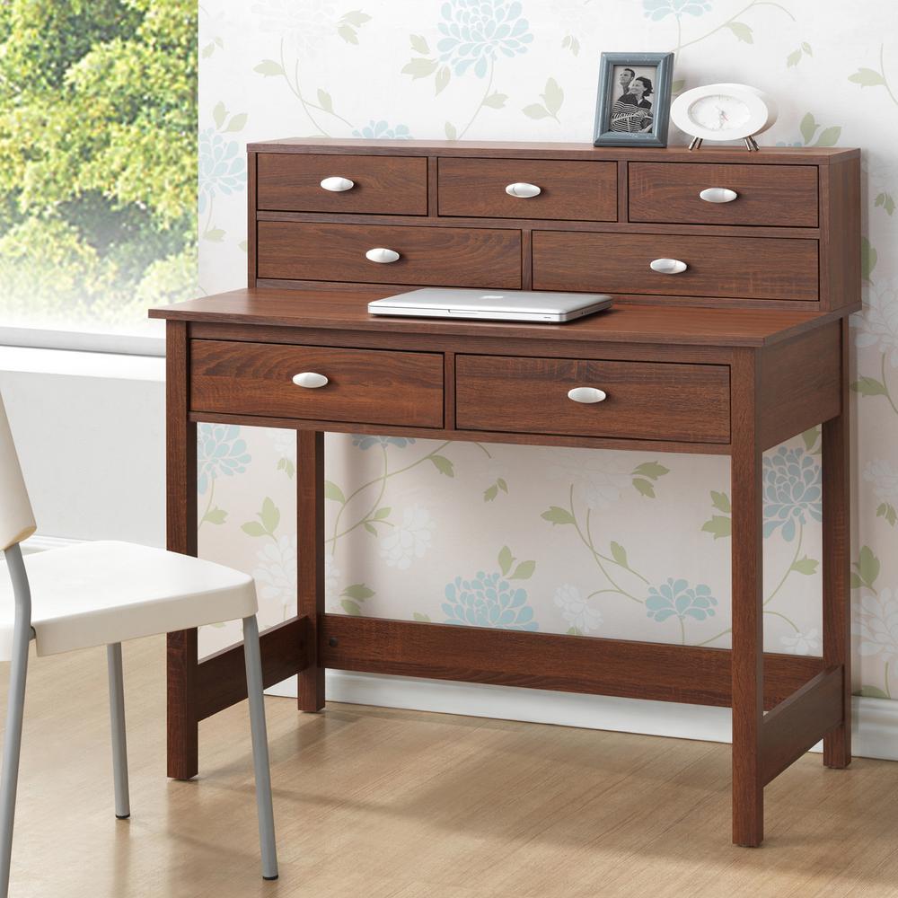 McKinley Contemporary Medium Brown Finished Wood Desk