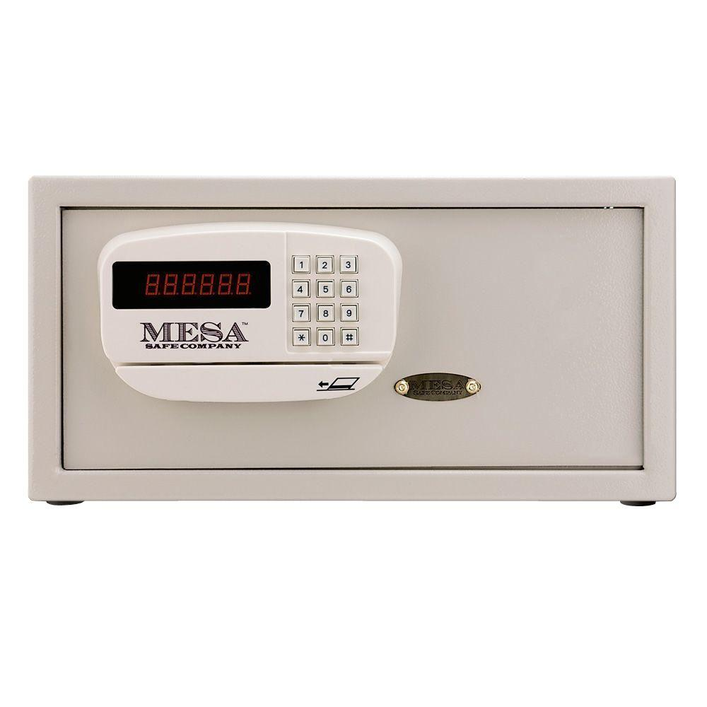 MESA 1.2 cu. ft. All Steel Hotel Safe with Electronic Lock, Cream