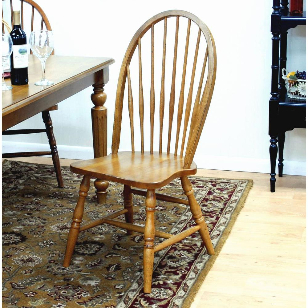 Carolina Cottage Windsor Dining Chair in English Pine
