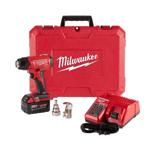 Click here to buy Milwaukee M18 18-Volt Lithium-Ion Cordless Compact Heat Gun Kit W/(1) 5.0Ah Batteries, Charger, Hard Case by Milwaukee.