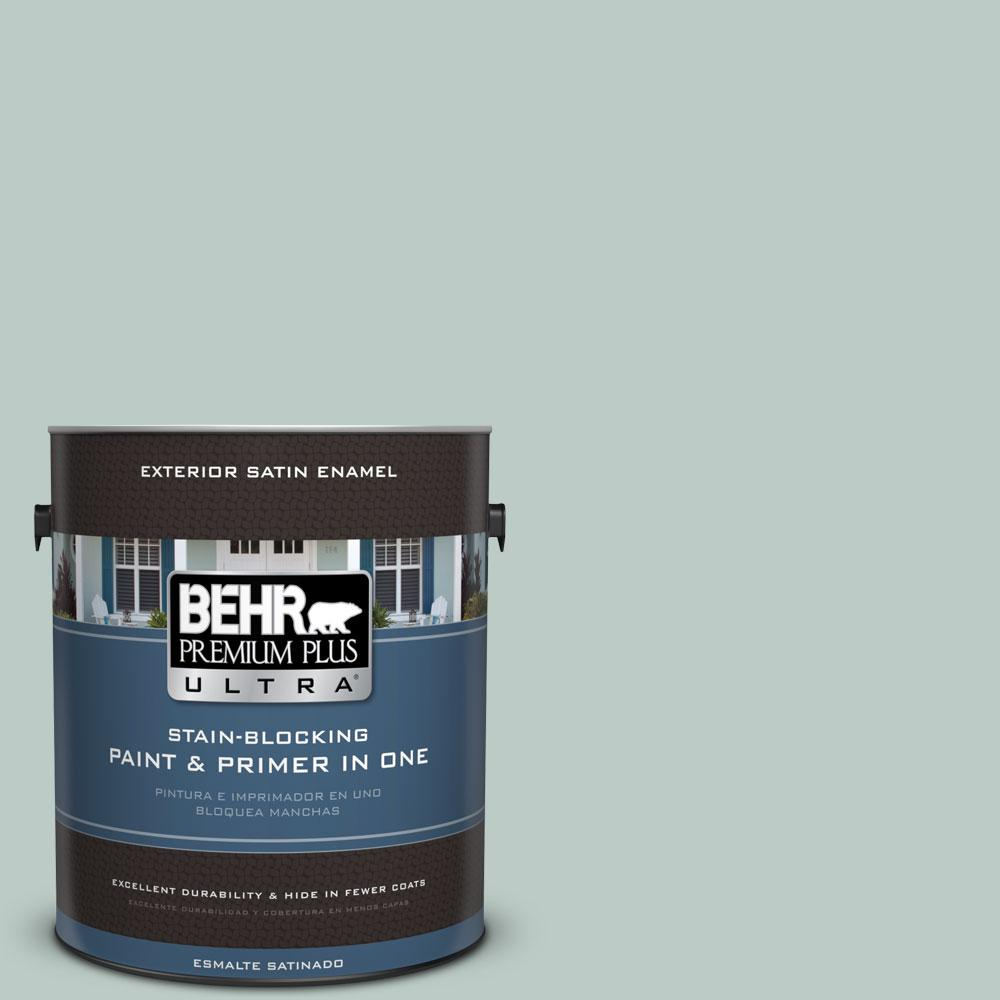 BEHR Premium Plus Ultra Home Decorators Collection 1-gal. #HDC-CL-23 Soothing Spring Satin Enamel Exterior Paint