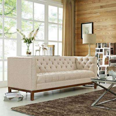 Panache Beige Upholstered Fabric Sofa