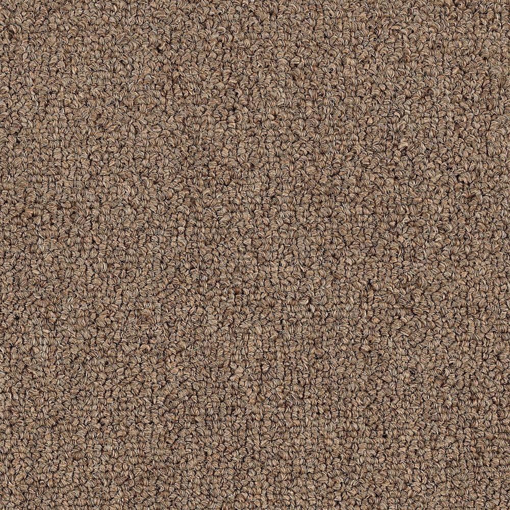 Carpet Sample - Top Rail 26 - Color Kaffee Loop 8 in. x 8 in.