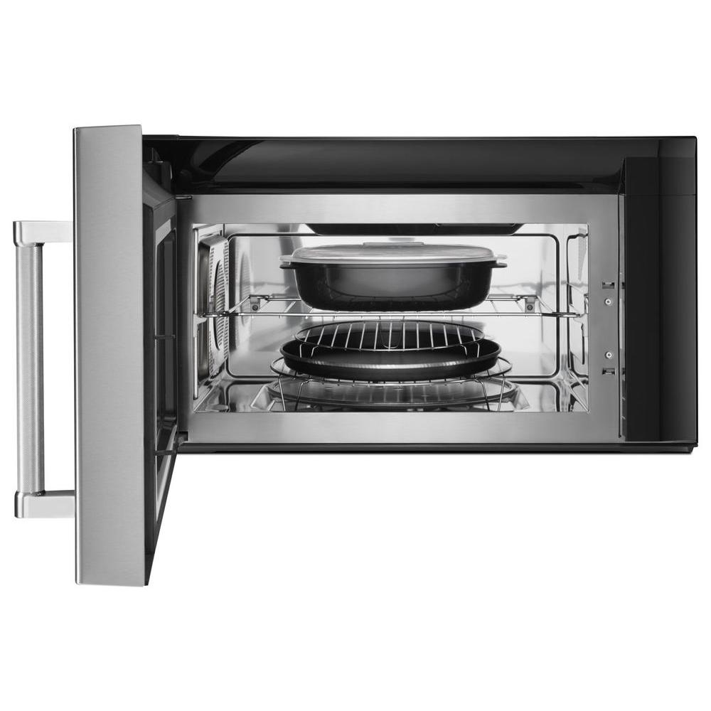 Kitchenaid 1 9 Cu Ft Over The Range Convection Microwave In Stainless Steel With Sensor Cooking Technology