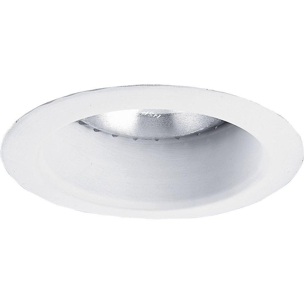 Progress Lighting 5 in. White Recessed Open Shower Trim