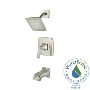 Venturi Single-Handle 1-Spray Tub and Shower Faucet in Spot Defense Brushed Nickel (Valve Included)
