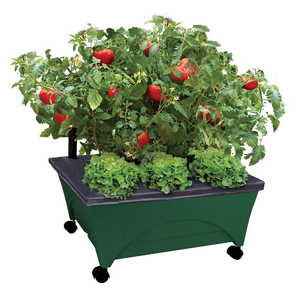 city pickers 245 in x 205 in patio raised garden bed grow box kit - Home Depot Garden City