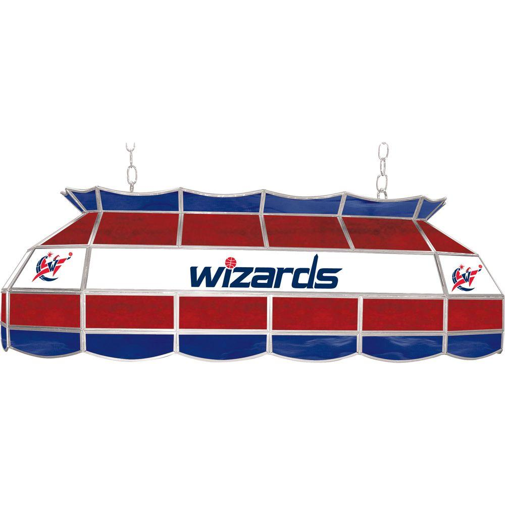 NBA Washington Wizards NBA 3-Light Stained Glass Hanging