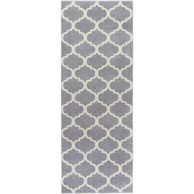 Graz Fog Gray 3 ft. x 7 ft. Indoor Runner Rug