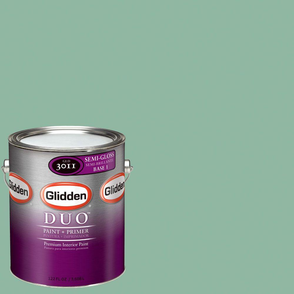 Glidden DUO Martha Stewart Living 1-gal. #MSL133-01S Duck's Egg Semi-Gloss Interior Paint with Primer - DISCONTINUED