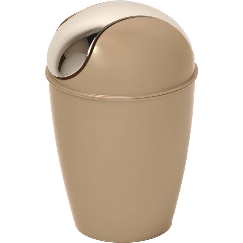 4.5 l/ 1.2 Gal. Round Bath Floor Trash Can Waste Bin  Taupe