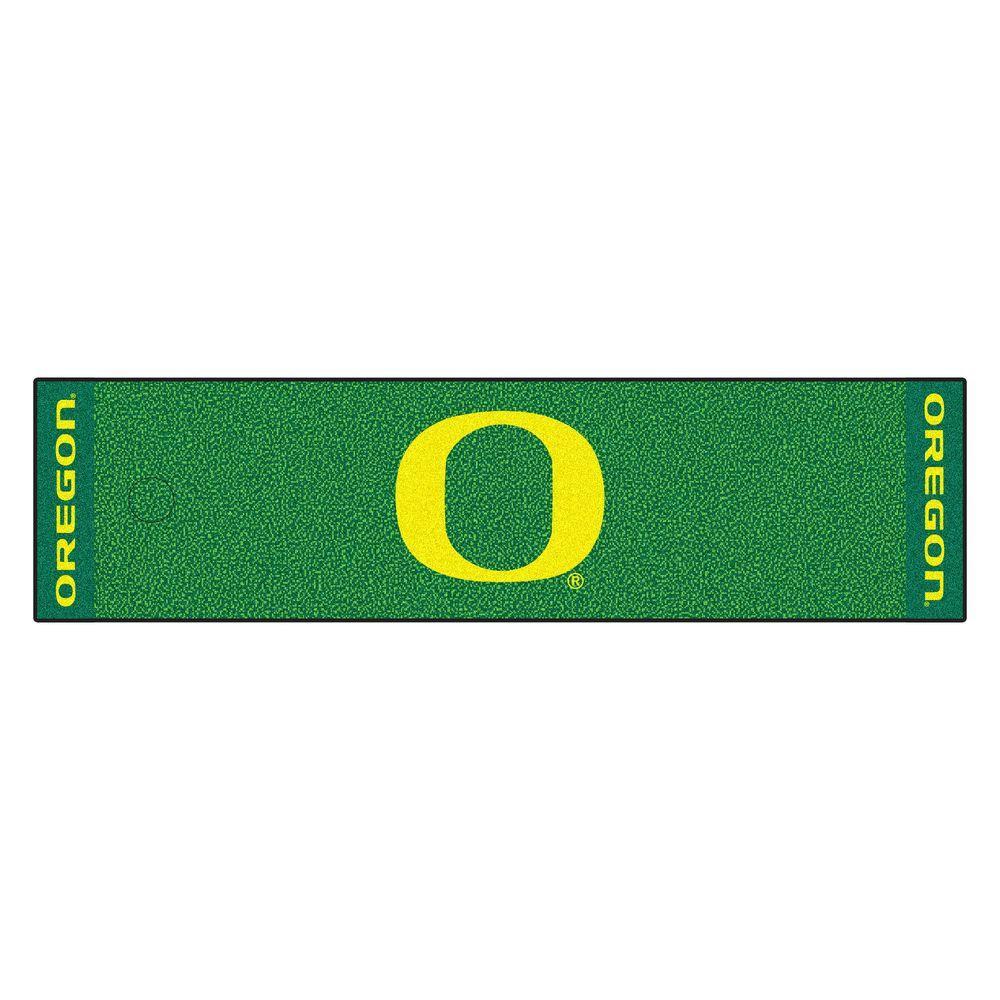 NCAA University of Oregon 1 ft. 6 in. x 6 ft. Indoor 1-Hole Golf Practice Putting Green