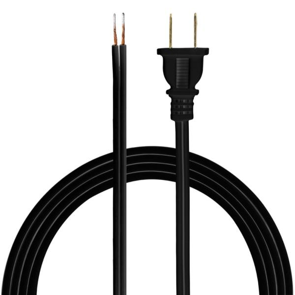 Ge 8 Ft Replacement Cord Set With Polarized Plug On 1 End Black 54435 The Home Depot