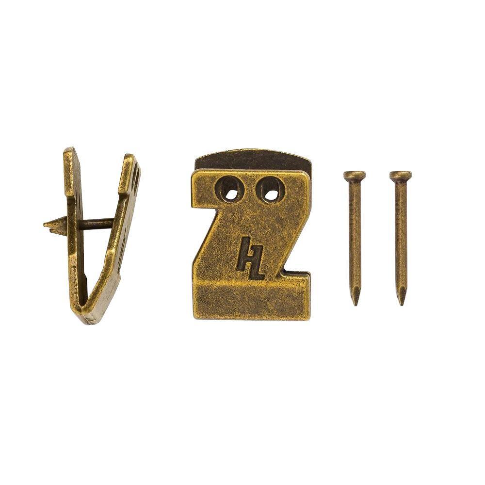 HangZ 15 lb. Canvas Flat Mount Sawtooth Hooks (2-Pack)