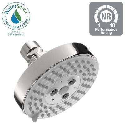 Raindance S 100 3-Spray 4 in. Green Showerhead in Chrome