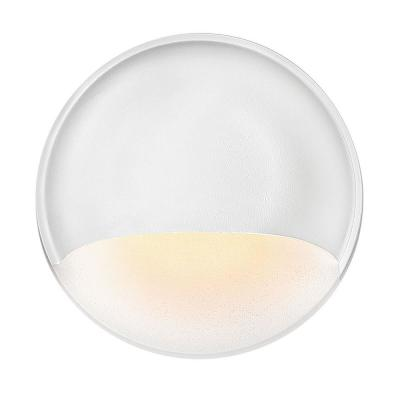 Nuvi Low-Voltage Matte White Integrated LED Round Stair Light