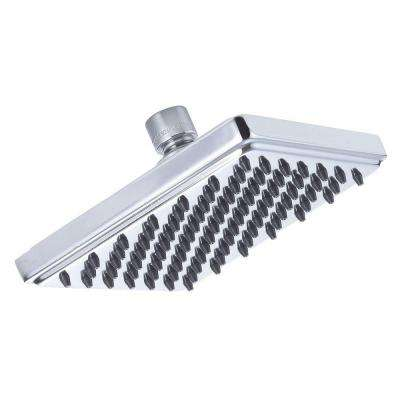 Square Sunflower 1-Spray 6 in. Fixed Shower Head in Chrome