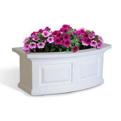 2 ft. Nantucket White Plastic Window Box