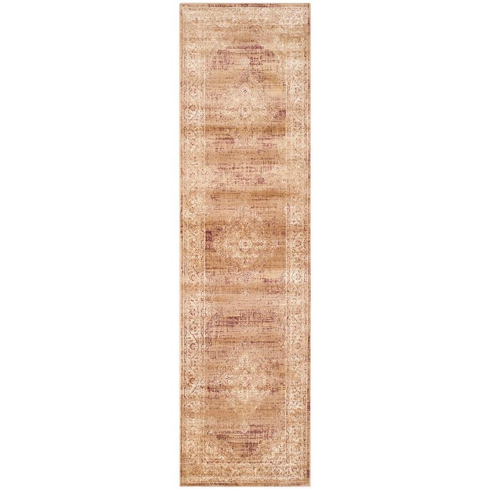 Safavieh Vintage Taupe 2 ft. x 10 ft. Runner Rug